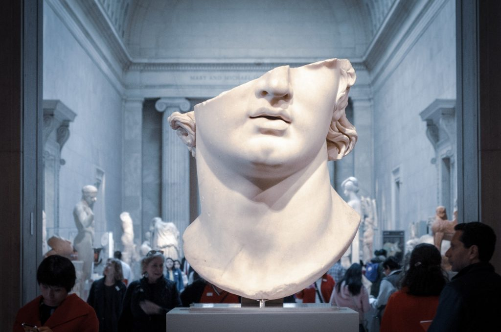 art, gallery, statue